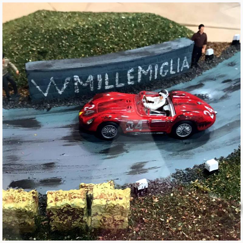 Simoncini Giocattoli e Modellismo Roma - Maserati - Diorama Mille Miglia